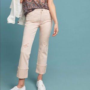 Anthropologie Slim Straight Light Pink Jeans